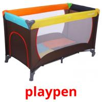playpen picture flashcards