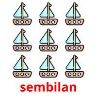sembilan picture flashcards