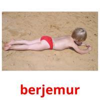 berjemur picture flashcards