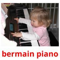 bermain piano picture flashcards