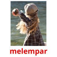 melempar picture flashcards