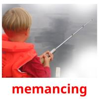 memancing picture flashcards
