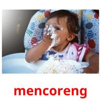 mencoreng picture flashcards