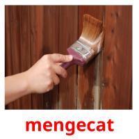 mengecat picture flashcards