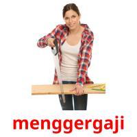 menggergaji picture flashcards
