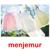 menjemur picture flashcards