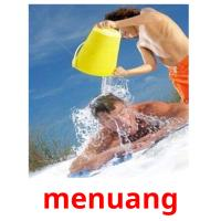 menuang picture flashcards