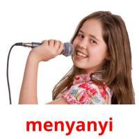 menyanyi picture flashcards