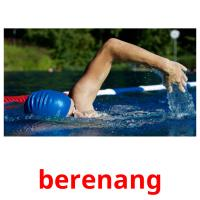 berenang picture flashcards