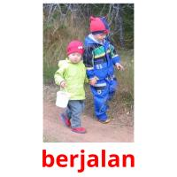 berjalan picture flashcards