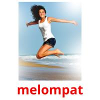 melompat picture flashcards