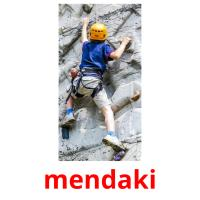 mendaki picture flashcards