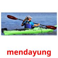 mendayung picture flashcards