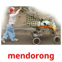 mendorong picture flashcards