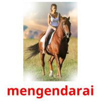 mengendarai picture flashcards