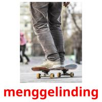 menggelinding picture flashcards