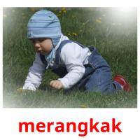 merangkak picture flashcards