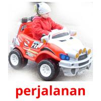 perjalanan picture flashcards