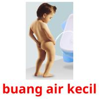 buang air kecil picture flashcards