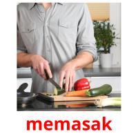 memasak picture flashcards
