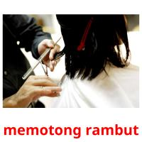memotong rambut picture flashcards