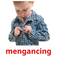 mengancing picture flashcards