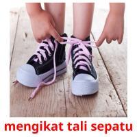 mengikat tali sepatu picture flashcards