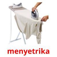 menyetrika picture flashcards