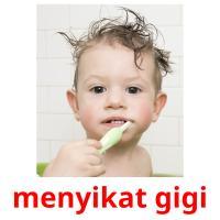 menyikat gigi picture flashcards