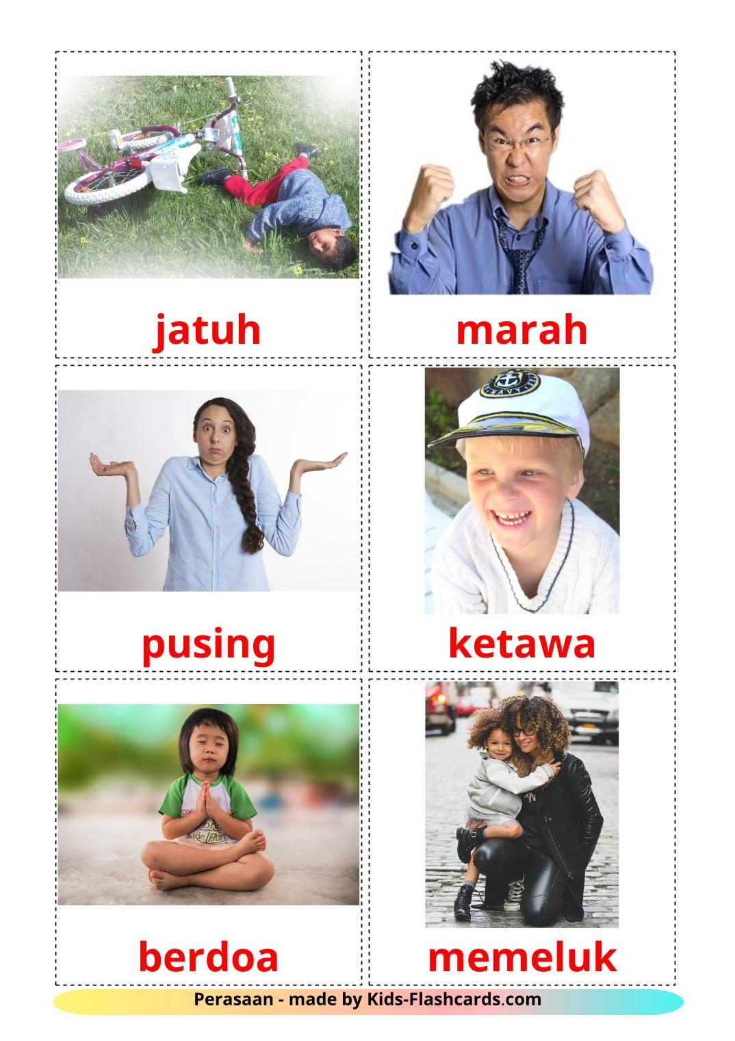 State verbs - 23 Free Printable indonesian Flashcards