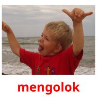 mengolok picture flashcards