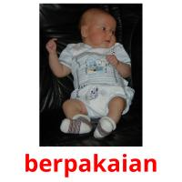 berpakaian picture flashcards