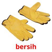 bersih picture flashcards