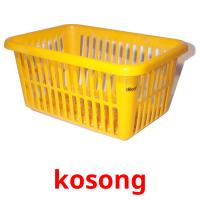 kosong picture flashcards