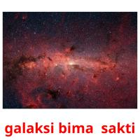 galaksi bima  sakti picture flashcards