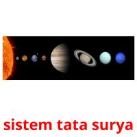sistem tata surya picture flashcards