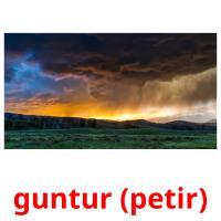 guntur (petir) picture flashcards