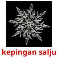 kepingan salju picture flashcards