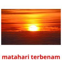 matahari terbenam picture flashcards