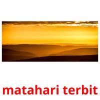 matahari terbit picture flashcards