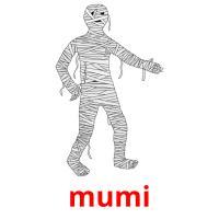 mumi picture flashcards