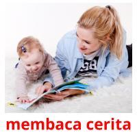 membaca cerita picture flashcards