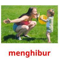 menghibur picture flashcards
