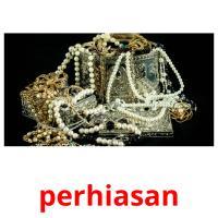 perhiasan picture flashcards