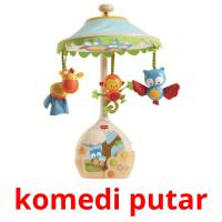 komedi putar picture flashcards