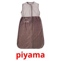 piyama picture flashcards