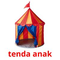 tenda anak picture flashcards