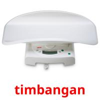 timbangan picture flashcards
