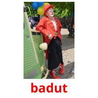 badut picture flashcards