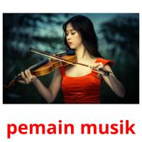 pemain musik picture flashcards